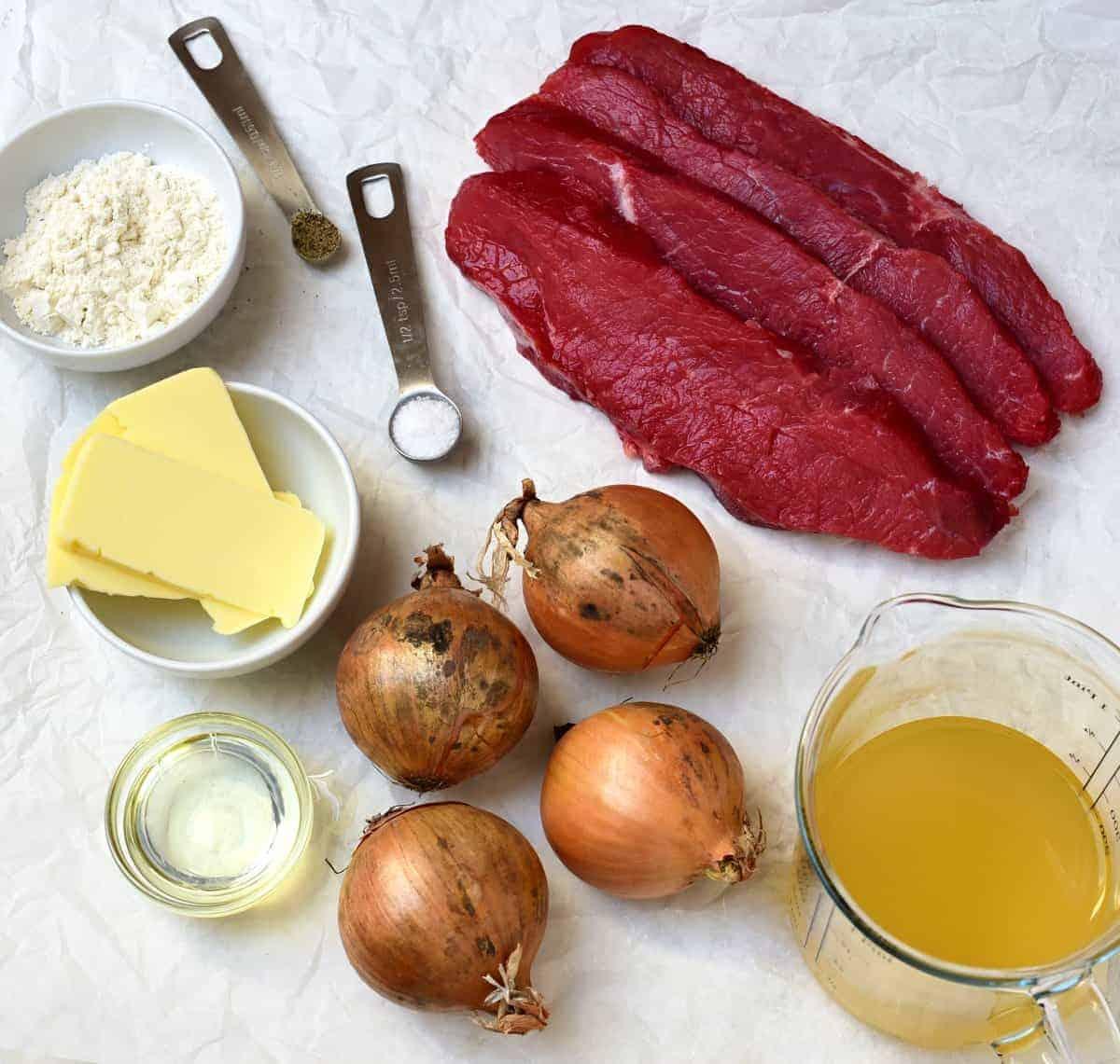 Zwiebelrostbraten ingredients
