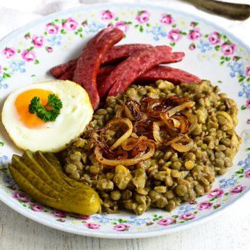 Czech čočka na kyselo recipe
