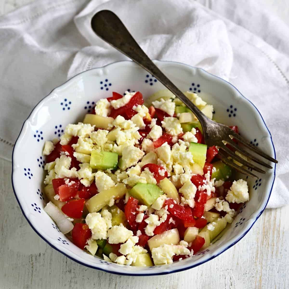 czech shopska salad šopský salát recipe