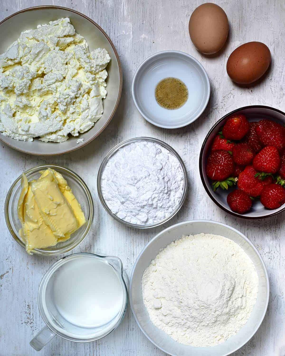 czech tvarohový koláč cream cheese coffee cake ingredients