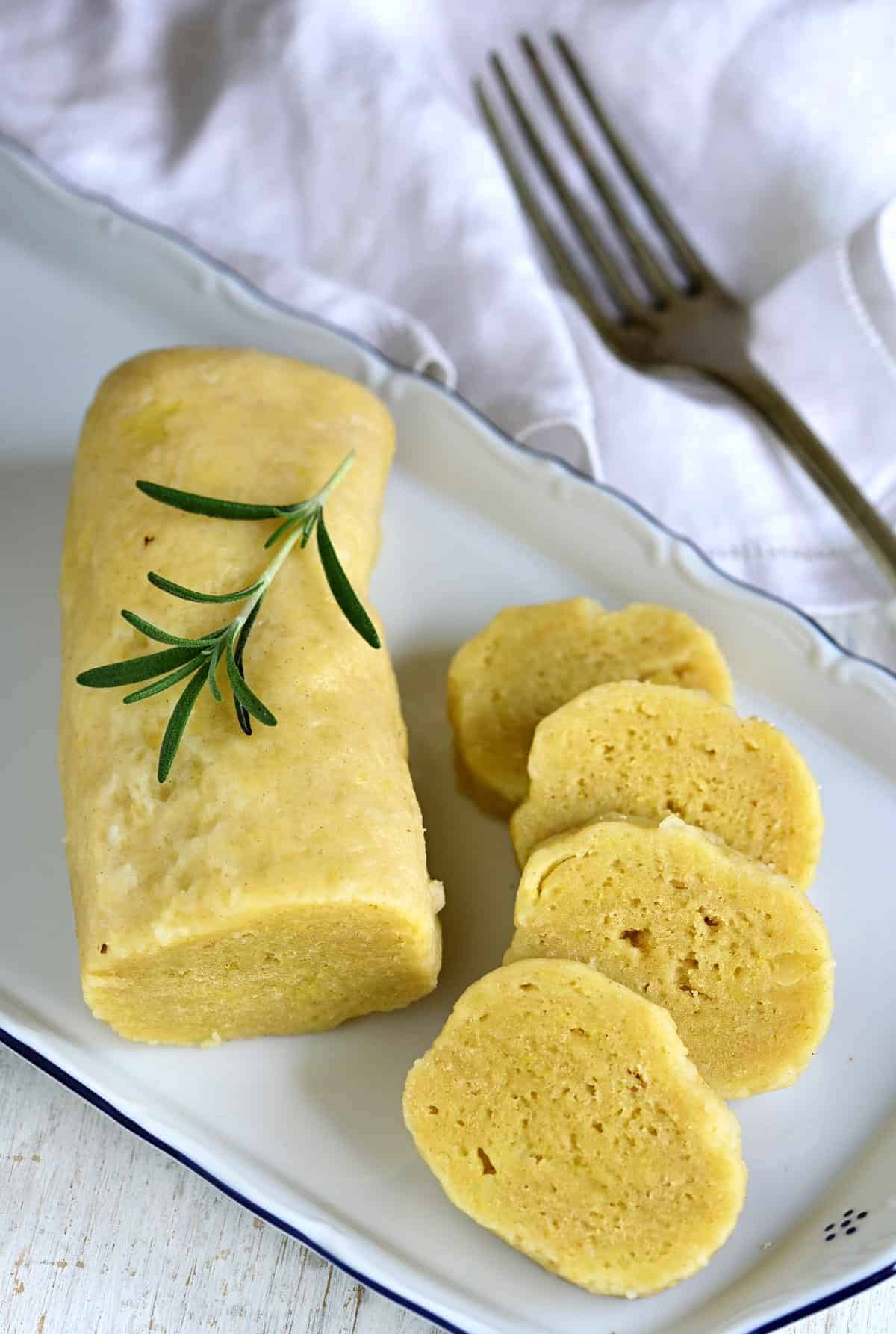 Czech potato dumplings - bramborové knedlíky