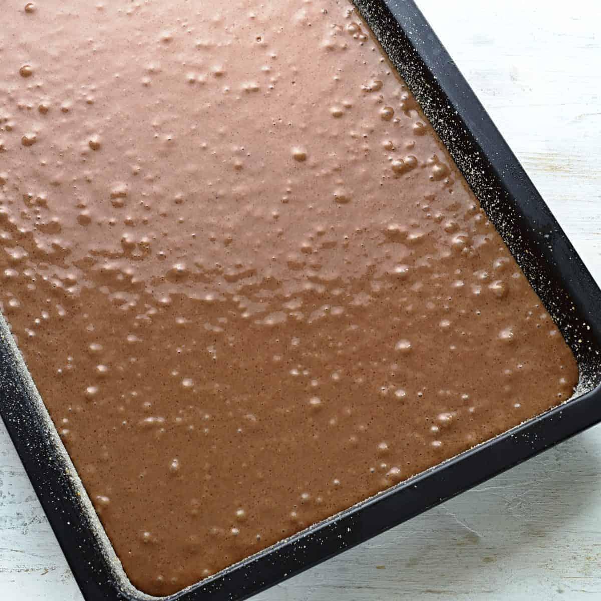 Making buttermilk cake.