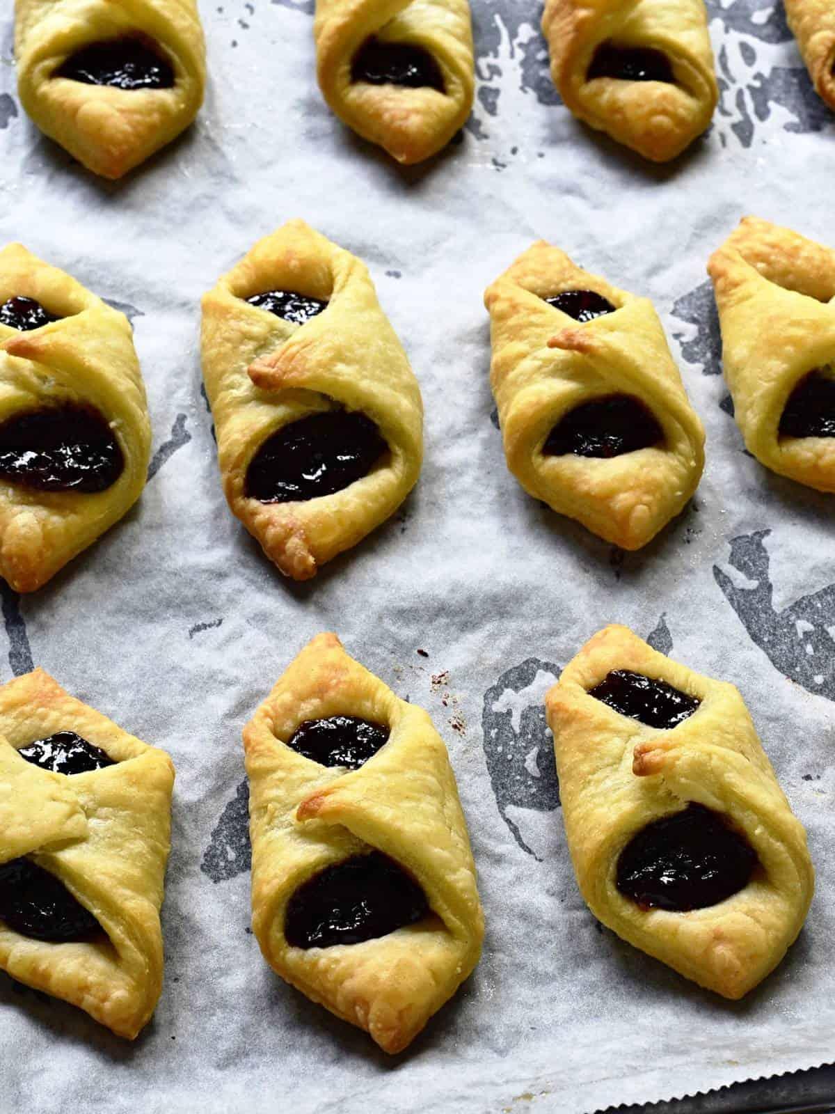 baked kolacky cookies