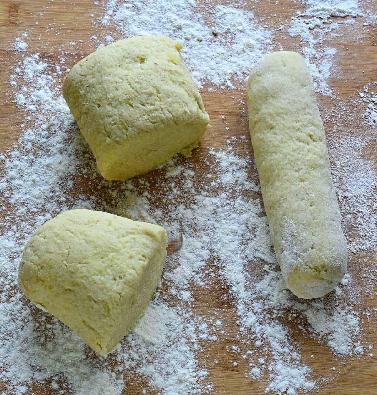 Czech potato dumpling rolls.