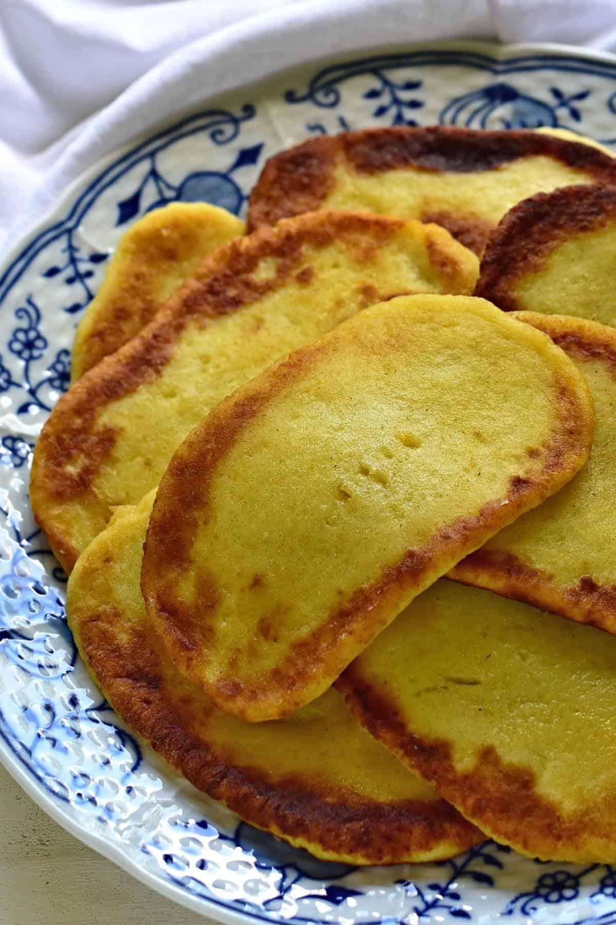 Czech bramborove placky potato flatbread.