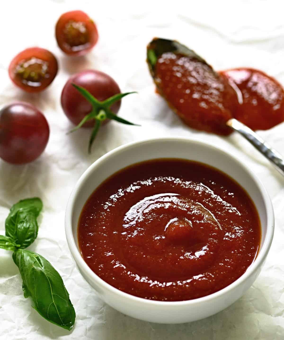 Homemade tomato ketchup.