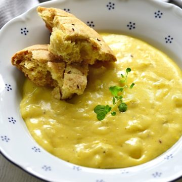 Creamy potato sauce.
