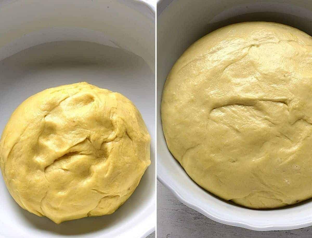 Yeast dough for trdelnik.
